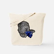 Blue Shar Pei Tote Bag