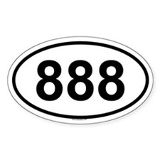 888 Oval Decal