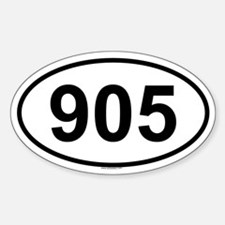 905 Oval Decal