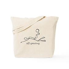 Off-Gassing Cartoon Scuba Diver Tote Bag