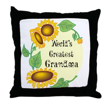 World's Greatest Grandma Throw Pillow
