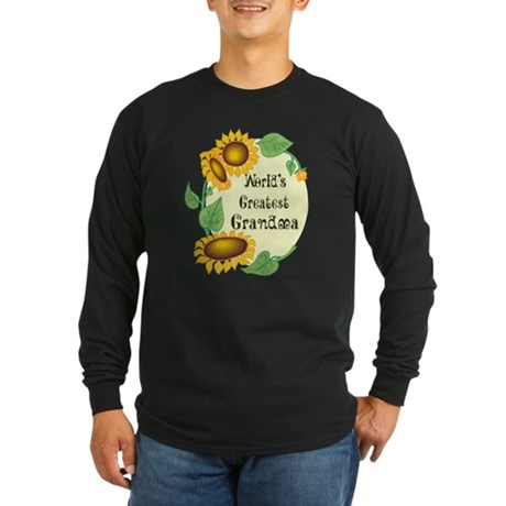 World's Greatest Grandma Long Sleeve Dark T-Shirt