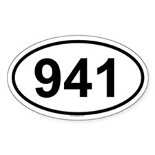 941 Oval Decal