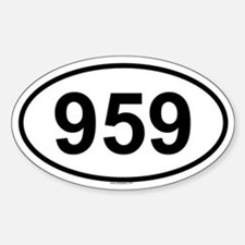959 Oval Decal