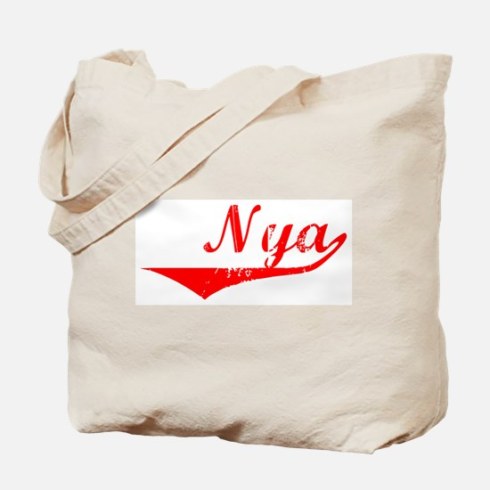 Nya Vintage (Red) Tote Bag