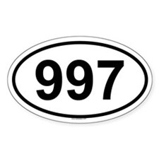997 Oval Decal