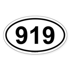 919 Oval Decal