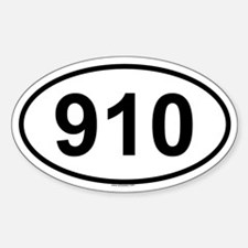 910 Oval Decal