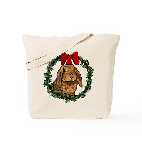 Christmas Rabbit Tote Bag