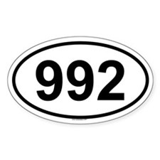 992 Oval Decal