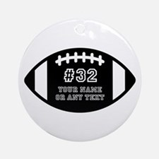 Customized Personal Football Round Ornament