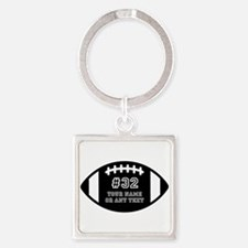 Custom Football Name Number Person Square Keychain