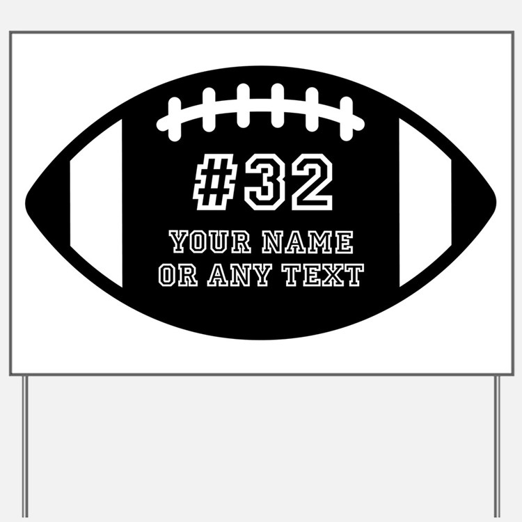 Custom Football Name Number Personalized Yard Sign