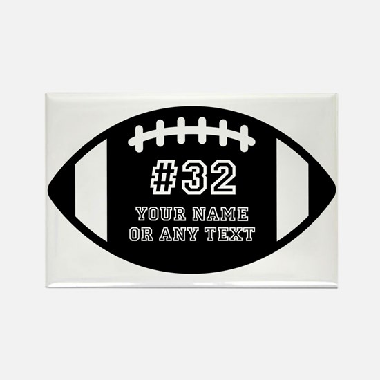 Custom Football Name Number Perso Rectangle Magnet