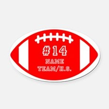 Football Car Magnets Personalized Football Magnetic Signs For - Custom car magnets oval