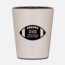 Custom Football Name Number Personalize Shot Glass