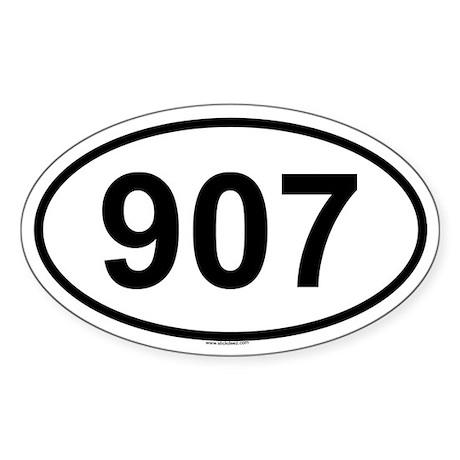 907 Oval Sticker