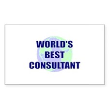 World's Best Consultant Rectangle Decal