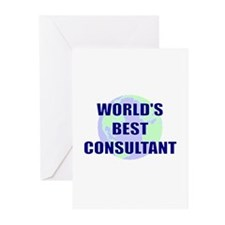 World's Best Consultant Greeting Cards (Pk of 10)
