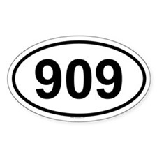909 Oval Decal
