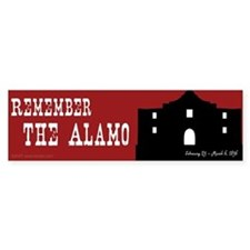 Remember the Alamo Bumper Bumper Sticker