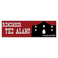Remember the Alamo Bumper Car Sticker