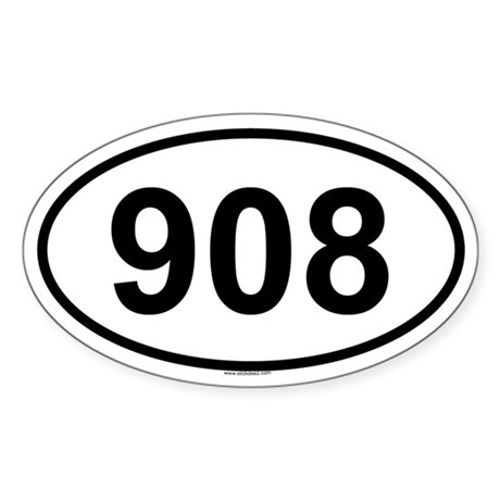 908 Oval Sticker