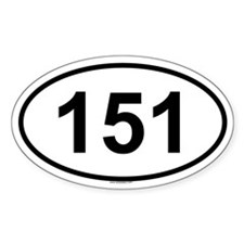 151 Oval Decal