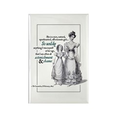 Jane Austen Unlike Me Rectangle Magnet