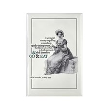 Jane Austen Go & Eat Rectangle Magnet