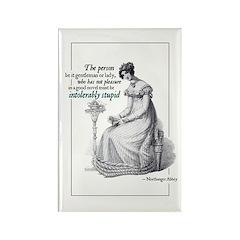 Jane Austen Intolerably Rectangle Magnet