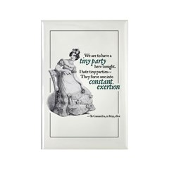 Jane Austen Tiny Party Rectangle Magnet