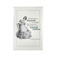Jane Austen Tiny Party Rectangle Magnet