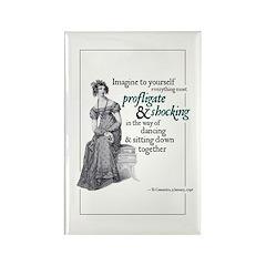 Jane Austen Profligate Rectangle Magnet