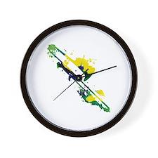 Paint Splat Trombone Wall Clock