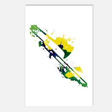 Paint Splat Trombone Postcards (Package of 8)