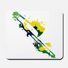 Paint Splat Trombone Mousepad