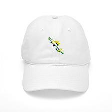 Paint Splat Trombone Baseball Cap