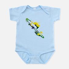 Paint Splat Trombone Infant Bodysuit