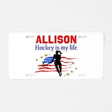 FIELD HOCKEY Aluminum License Plate