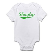 Shayla Vintage (Green) Infant Bodysuit
