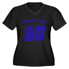 Class Of 25 Women's Plus Size V-Neck Dark T-Shirt