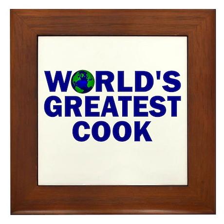 World's Greatest Cook Framed Tile
