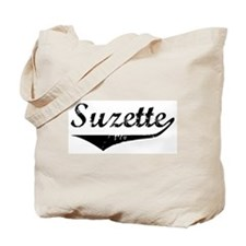 Suzette Vintage (Black) Tote Bag