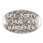 Hug a Gardener Oval Sticker