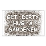 Hug a Gardener Rectangle Sticker