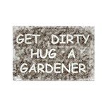 Hug a Gardener Rectangle Magnet