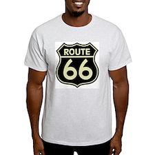 Retro Route 66 Ash Grey T-Shirt