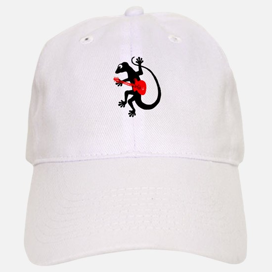 Gecko Guitar Baseball Baseball Cap