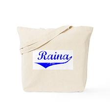 Raina Vintage (Blue) Tote Bag